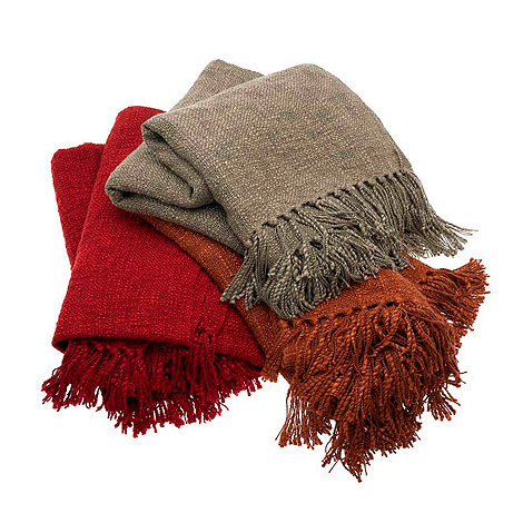 Home Collection - Red textured throw