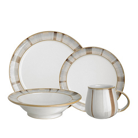 Denby - Mushroom and cream +Truffle Layers+ 16 piece dinnerware set