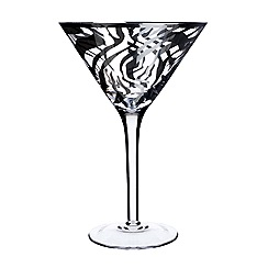 Star by Julien Macdonald - Zebra print cocktail glass