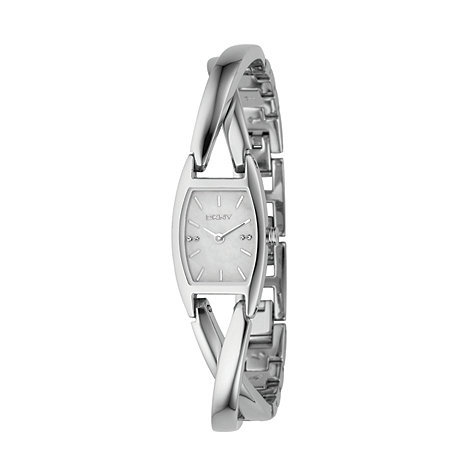 DKNY - Ladies bracelet watch with mother of pearl face