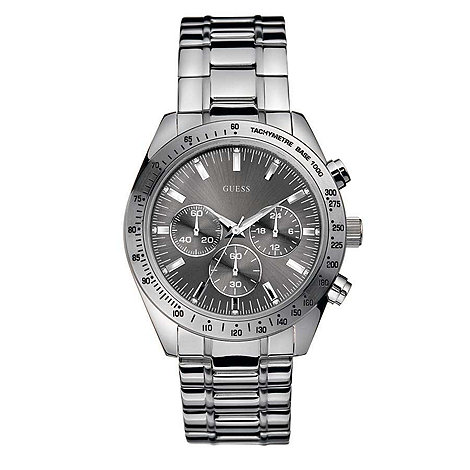 Guess - Men+s grey chronograph dial with bracelet watch