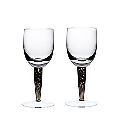 Denby - Set of 2 'Jet' white wine glasses