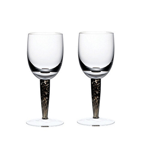 Denby - Jet White set of 2 wine glasses