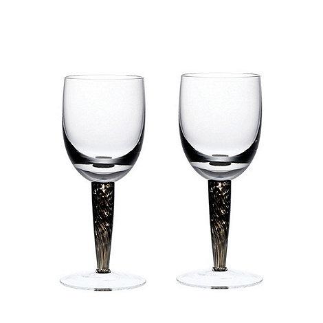 Denby - Set of 2 +Jet+ white wine glasses