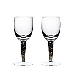 Denby - Set of 2 'Jet' red wine glasses