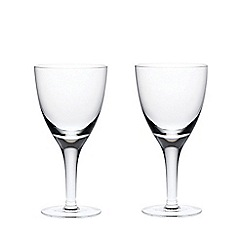Denby - China red wine glasses