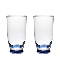 Denby - 'Imperial blue' set of 2 blue tumblers