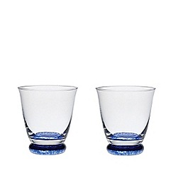Denby - 'Imperial blue' set of 2 small tumblers