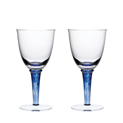 Denby - Set of 2 +Imperial Blue+ white wine glasses
