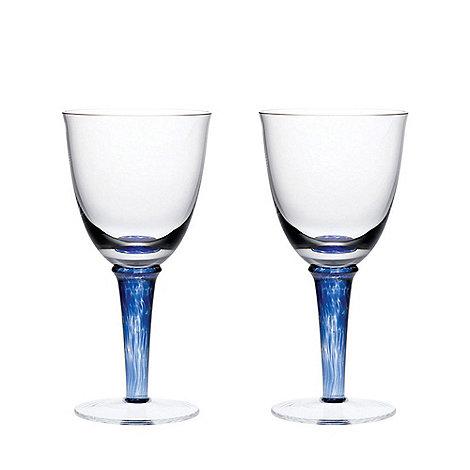 Denby - Imperial blue White wine glasses