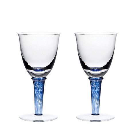Denby - Imperial blue red wine glasses