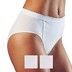 Sloggi - Pack of two white control tai briefs