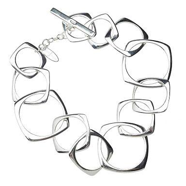 Sterling silver simplicity hoops bracelet - Sterling silver - Bracelets - Jewellery & jewellery boxes - Womens - Debenhams