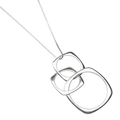 Sterling silver simplicity hoops pendant necklace - J by Jasper Conran - Jewellery & jewellery boxes - Womens - Debenhams