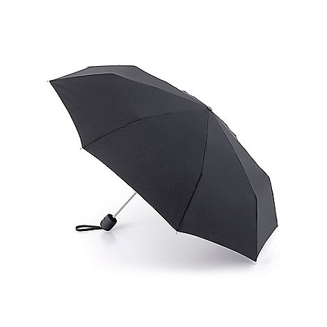 Fulton - Black umbrella with carry strap