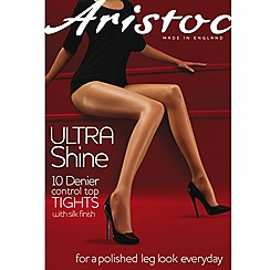 Aristoc - Black ultra shine 10D sheer control top tights
