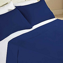 Designers at Debenhams - Navy supima cotton bed sheets