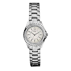 Guess - Ladies round mother of pearl dial with bracelet watch