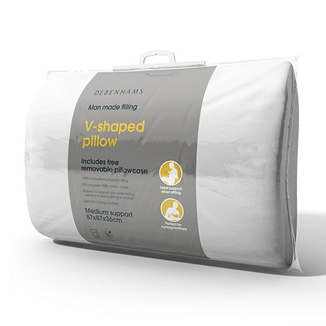 Debenhams - V shape pillow
