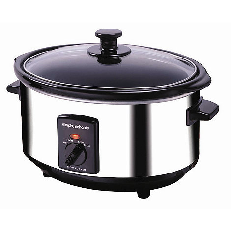 Morphy Richards - 3.5L Stainless Steel slow cooker 48710