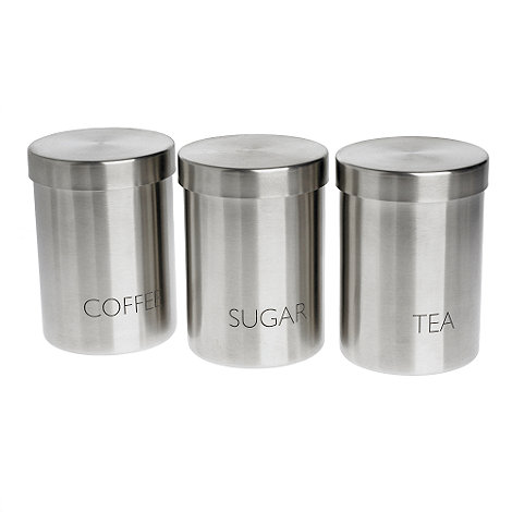 Debenhams - Set of 3 text storage jars