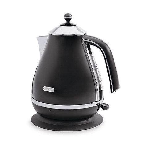 DeLonghi - Black icona stainless steel kettle