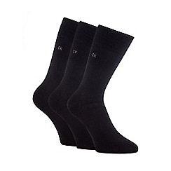 Calvin Klein - Pack of three black flat knit socks