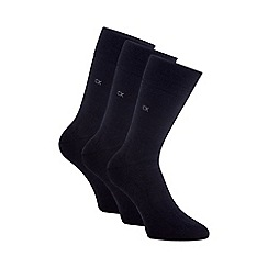 Calvin Klein - CK 3-pack flat knit socks
