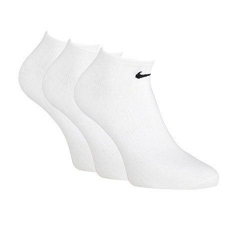 Nike - Nike pack of three white +Sport Quarter+ trainer socks