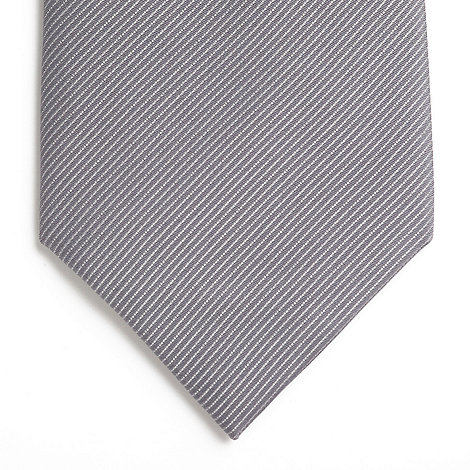 Thomas Nash - Silver pure silk tie