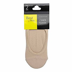 Debenhams - Pack of two natural cooling finish footsies