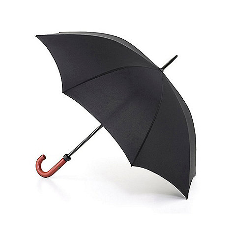 Fulton - Black large umbrella with wooden handle