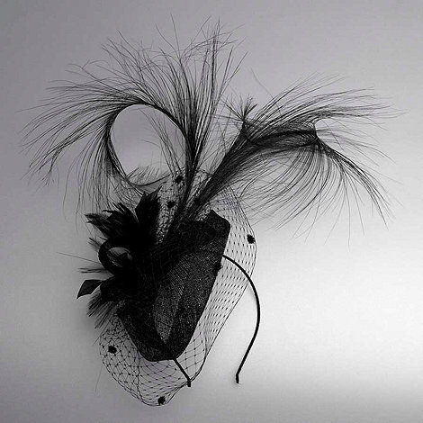 Debut - Black feather cocktail fascinator