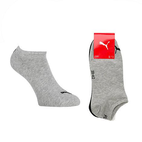 Puma - Pack of three cotton mix multi sneaker socks