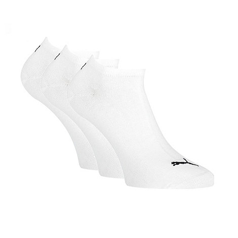 Puma - Pack of three white cotton mix sneaker socks