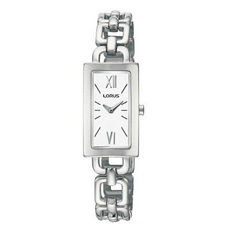 Lorus - Ladies silver coloured rectangular dial with bracelet watch