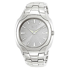 Citizen - Men's round dial and silver coloured bracelet watch