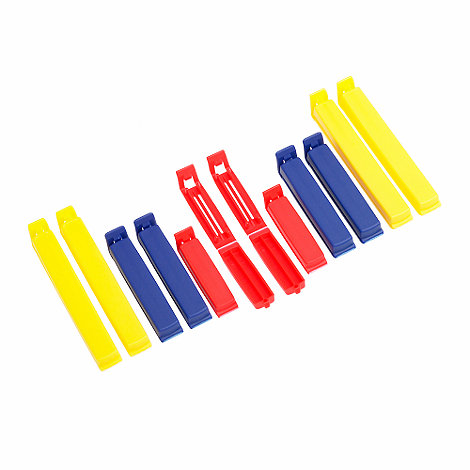 Kitchen Complete - Kitchencraft plastic pack of 12 multi-purpose clips