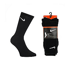Nike - Pack of three black sport socks