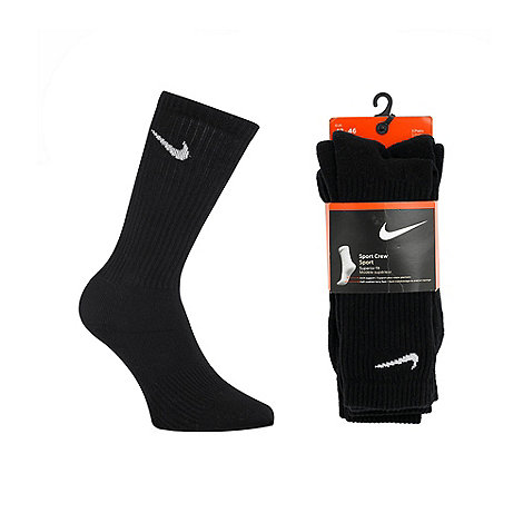 Nike - Nike pack of three black sport socks