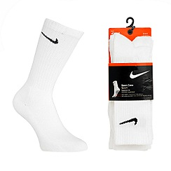 Nike - Pack of three white sport socks