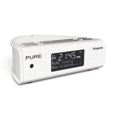 white dab siesta digital clock radio. Black Bedroom Furniture Sets. Home Design Ideas