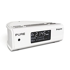 Pure - White DAB 'Siesta' digital clock radio