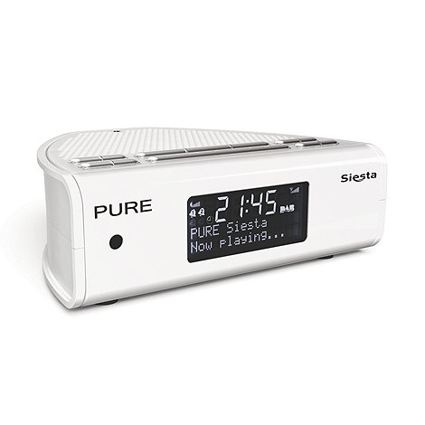 Pure - White DAB +Siesta+ digital clock radio