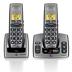 BT - Grey freestyle 750 twin dect telephone