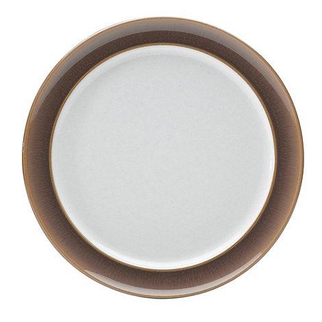 Denby - Truffle wide rimmed tea plate