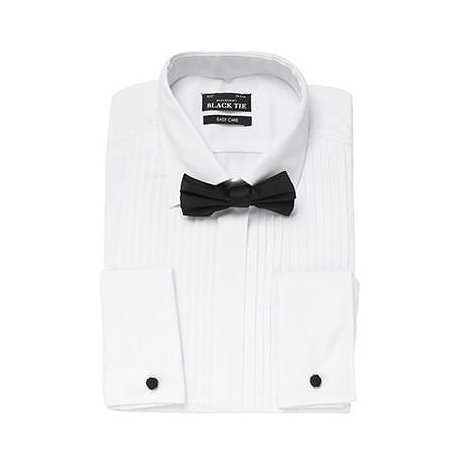Thomas Nash - White ultimate coordinating classic dress shirt & tie set