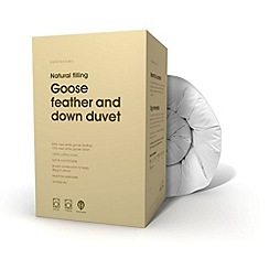 Debenhams - 13.5 tog softened goose feather and down all seasons duvet (4.5 + 9 tog)