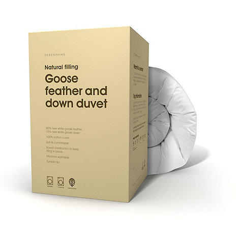 Home Collection - 13.5 tog softened goose feather and down all seasons duvet (4.5 + 9 tog)
