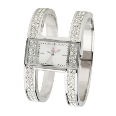 EB by Erickson Beamon Women's silver coloured split bangle watch